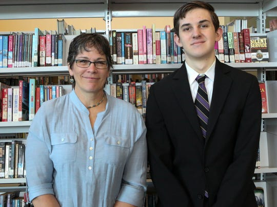 Stephen Wargo, right, with Mentor Cynthia Hitz.