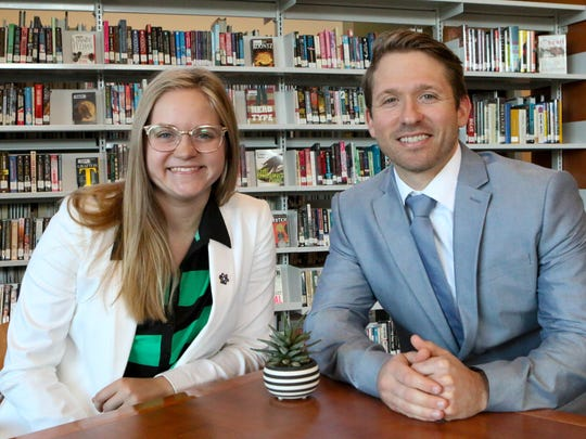 Madeline Wolfe, left, with Mentor Nicholas Swartz.