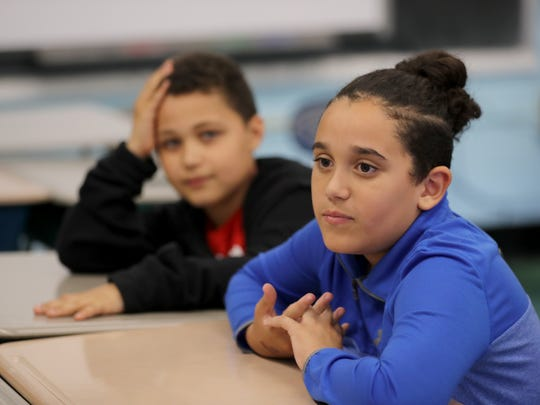 Nikolas Keeley, left, and Christopher DeLeon, fifth-grade