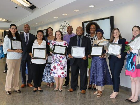 Teachers of the Year honoredPHOTO CAPTION