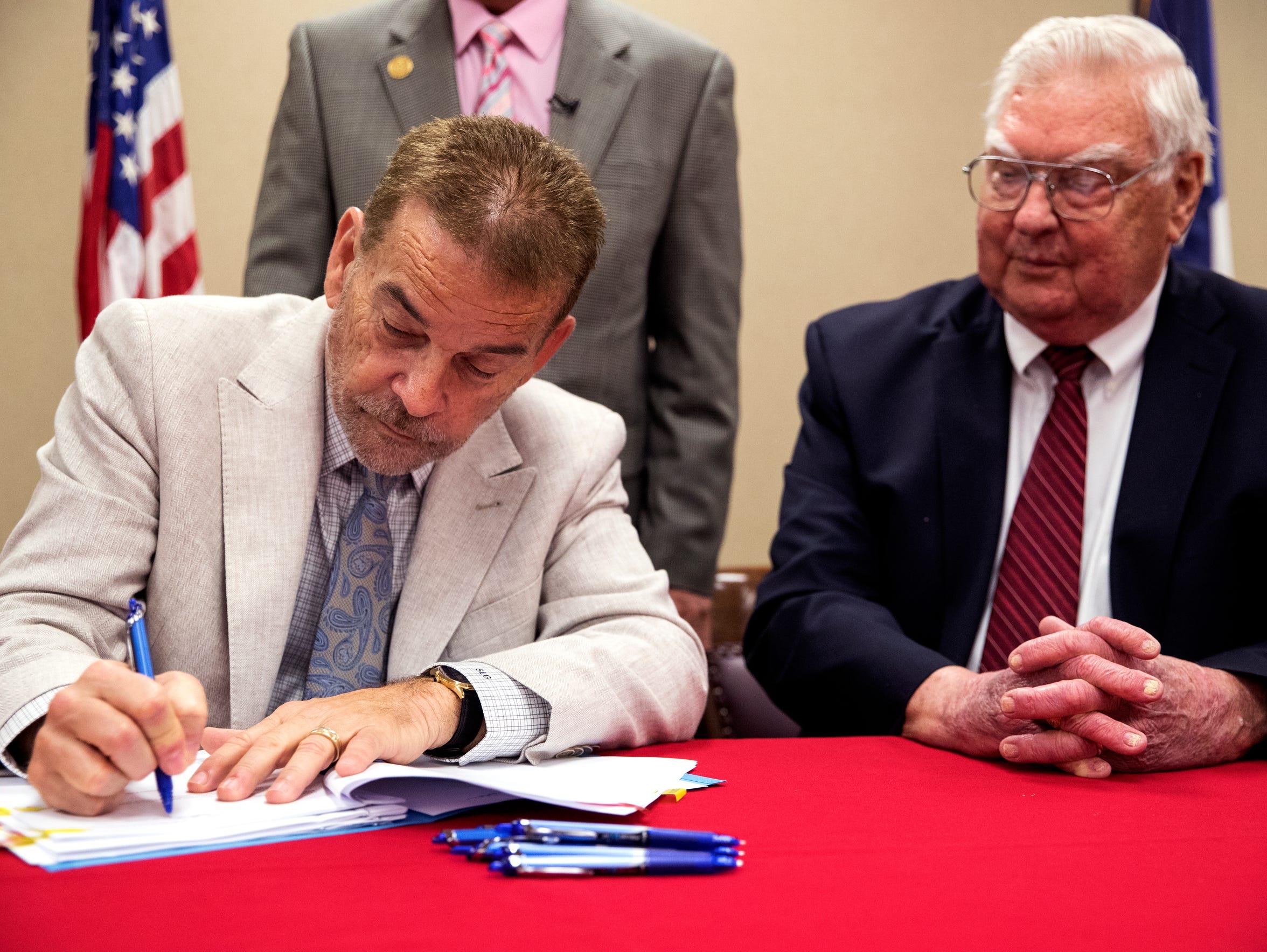 Steve Goodman (left), managing principal of Improvement
