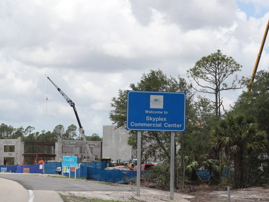 """Construction is under way at the new Gartner site, which will become the """"South Campus."""""""