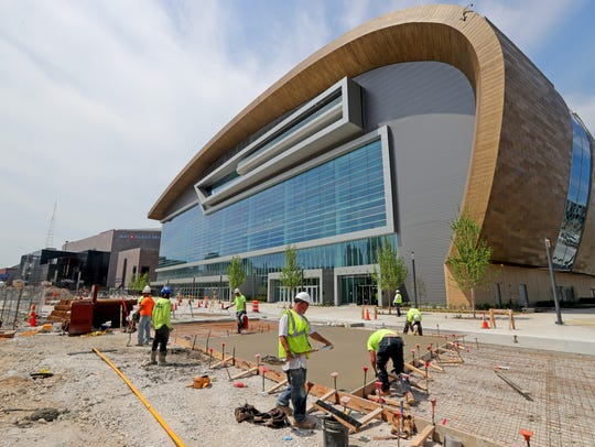 The new Milwaukee Bucks arena.