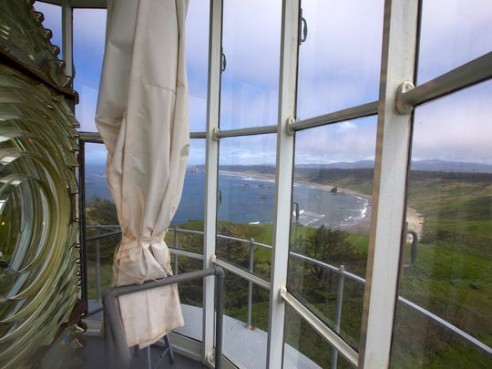 The tour of Cape Blanco Lighthouse allows visitors to climb to the top and look out from where the light still shines.