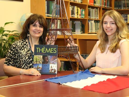 Bethany Hartmoyer, right, with Mentor Jennifer Martin.