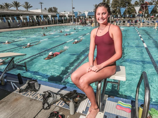La Quinta High School swimmer, water polo player and cross country runner Akemi Von Scheer on Thursday, June 7, 2018 at Palm Desert Aquatic Center. She has been name the Desert Sun female athlete of the year.