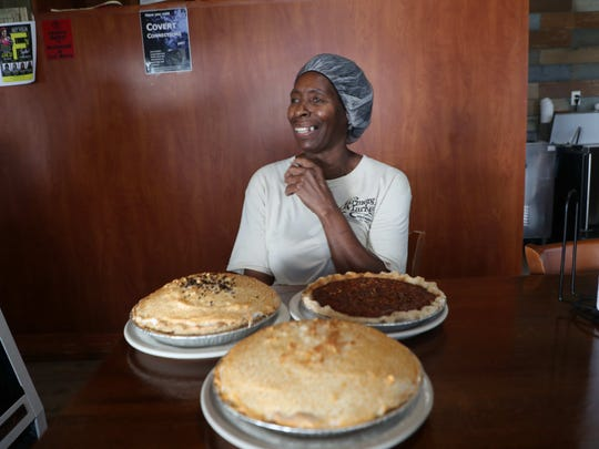 Christine Yelling, the pie lady from Farmers Market Restaurant, one of the many places for which JLB is thankful.