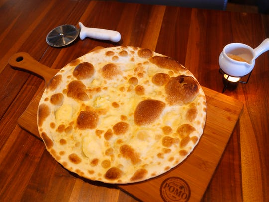 Focaccia di Recco at Pomo Pizzeria Napoletana.