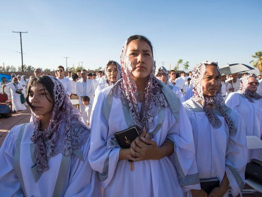 Luz del Mundo Church members inaugurate their newly built church in Palm Springs on June 13, 2018. The church has about 80 members in Palm Springs.