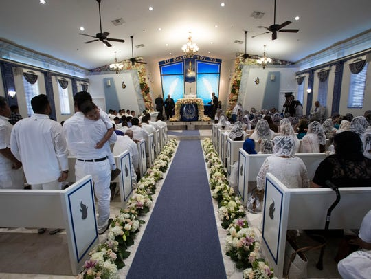 Luz del Mundo Church members inaugurate their newly