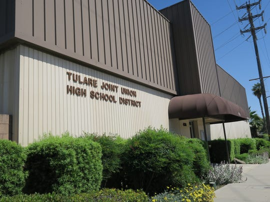 Tulare Joint Union High School District office, located at 426 N. Blackstone St. in Tulare.