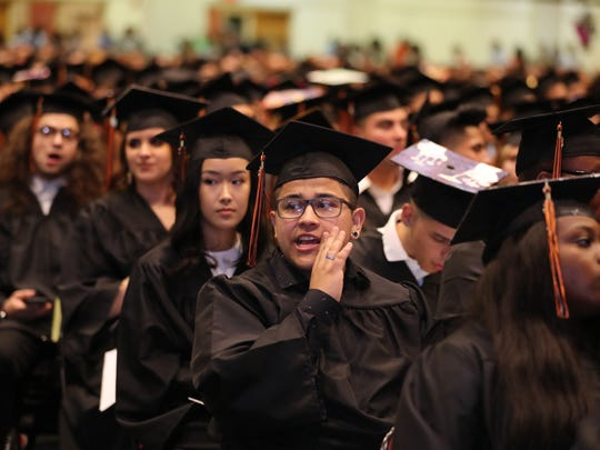 White Plains High School held its 2018 graduation at the Westchester County Center in White Plains June 21, 2018.