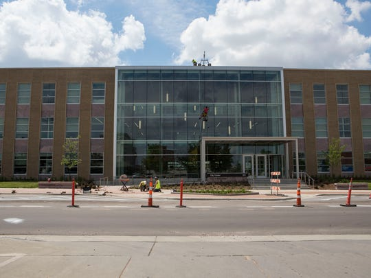 Exterior of the City Center building in Sioux Falls, S.D. Friday, June 22, 2018.