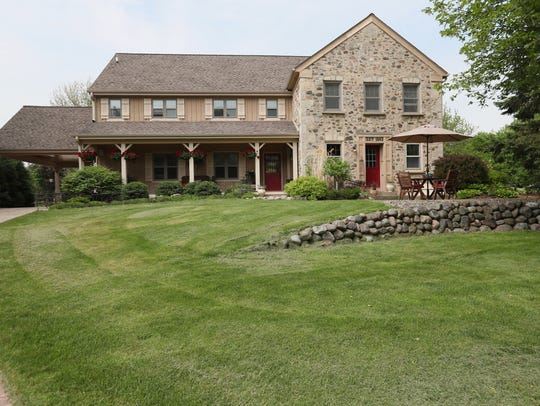 The original, stone part of this Cedarburg farmhouse
