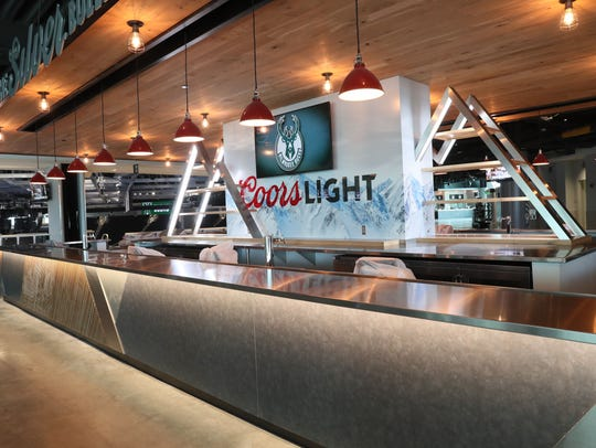 The new Bucks arena features enhanced food and beverage