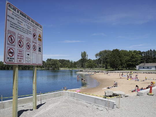 Construction on the Duck Creek Quarry Park beach started last winter.