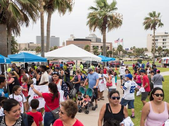 People enjoy the City of Corpus Christi Mayor's Big Bang Celebration  on Wednesday , July 4, 2018 on Shoreline Boulevard.