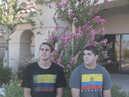 La Quinta football player Gordon Haskell, right, and swimmer/water polo star Spencer Lowell will put their athletic ambitions on hold to serve on Mormon missions. Haskell will serve in Ecuador while Lowell will serve in Colombia. Photo taken on June 22, 2018 in Indio.