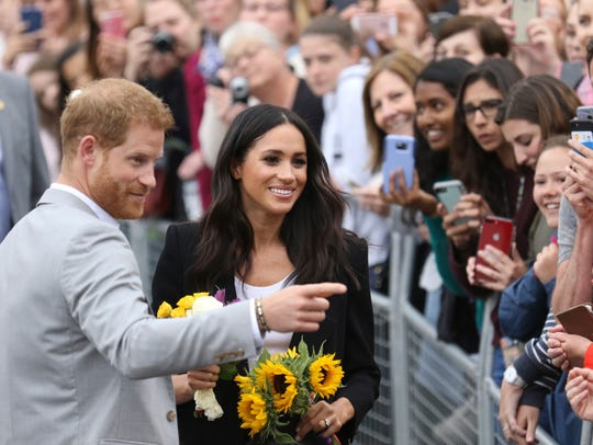 Prince Harry and Duchess Meghan of Sussex meet their