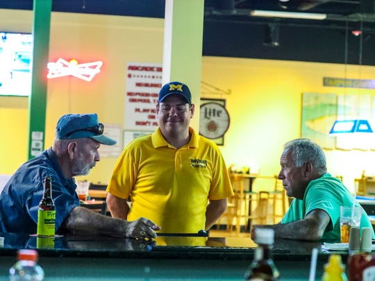 A lot of regulars frequent his restaurant. Chris visits with a couple of them as he makes his rounds. Punta Gorda Beef 'O' Brady's owner Chris Lansdale started with the restaurant over a decade ago as a manager and cook. After working his way up through the ranks, and eventually taking ownership of the restaurant in 2015, Chris quickly made a name for himself in the company and community. His Beef 'O' Brady's is the top producing restaurant in the chain.