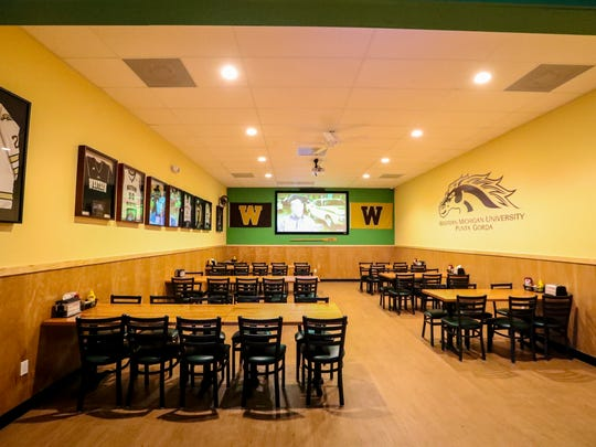 One of the party rooms in the restaurant. Punta Gorda