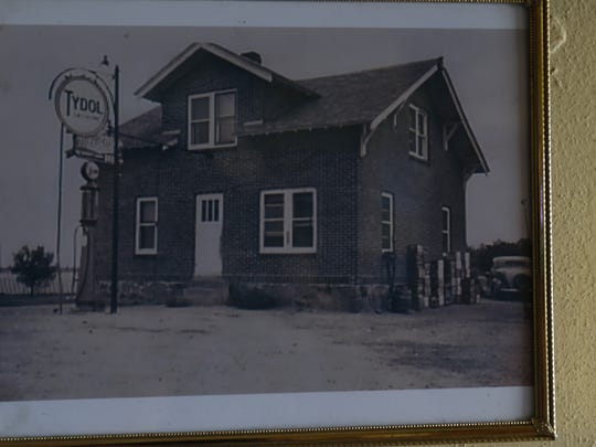 A picture of A&E Tavern from 1935 currently hangs on