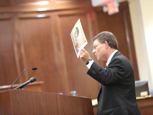 Assistant District Attorney Dan Brollier gives closing