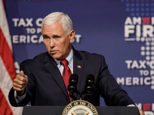 Vice President Mike Pence speaks at a tax policy event