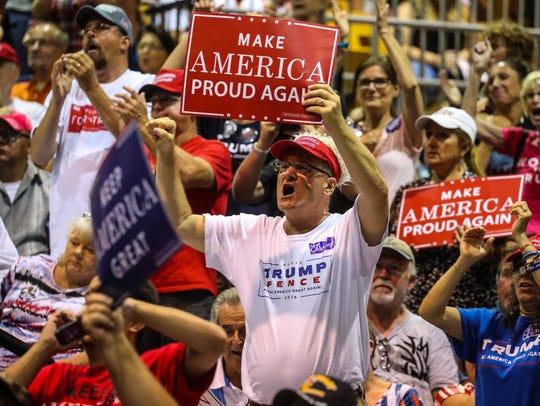 President Trump supporters showed up strong for the