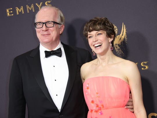 Tracy Letts and Carrie Coon arrive on the red carpet