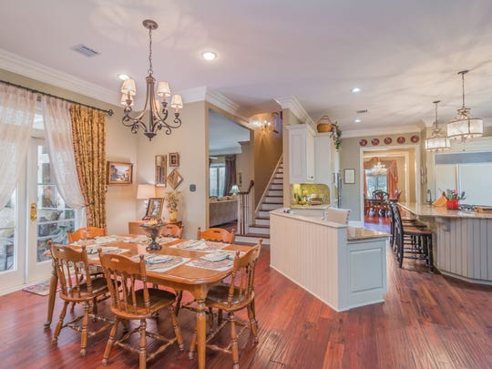 There are gorgeous wood floors throughout the 4 bedroom, 2½ bathroom home in Broussard, Louisiana. The mansion is listed at $879,900.