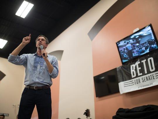 The Texas Democratic candidate for Senate, Rep. Beto
