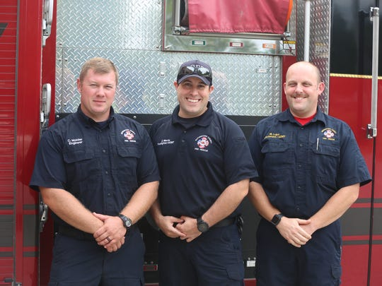 From left, Rutherford County Fire Rescue firefighters