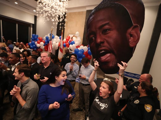 Govern candidate Andrew Gillum's watch party