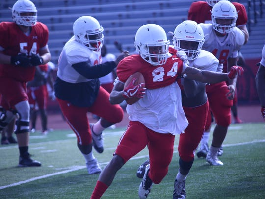 Austin Peay players participate in practice Tuesday