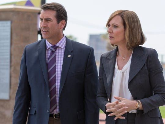"Rob Riggle and Allison Janney star in ""A Happening"