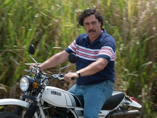 "Javier Bardem plays Pablo Escobar in ""Loving Pablo."""