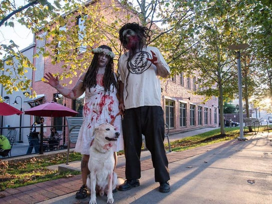 Zombies of all ages  and walks of life came to participate