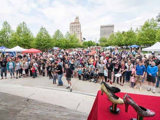 On Saturday May 7th, many gathered at Pack Square Park