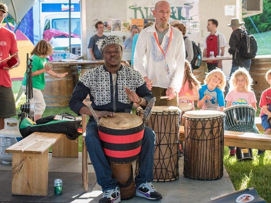 An African Drum Circle was held by Adama Dembele at