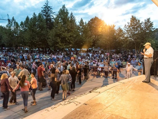 Musicians, cloggers and music lovers of all ages gathered
