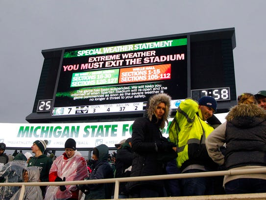 The Michigan State-Penn State NCAA college football