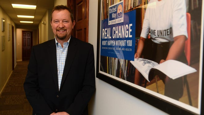 United Way president Gary Owen and the organization are half of the way toward reaching the $1.22 million goal.