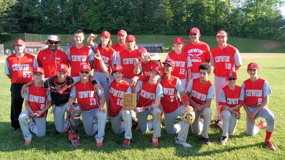 Erwin Middle School's baseball team won the French Broad Conference championship on Friday.