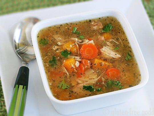 Turkey carcass soup.