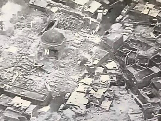 This image provided by U.S. CENTCOM shows the al-Nuri