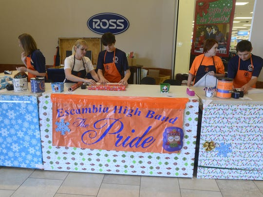 Escambia High Band Gift Wrapping 2