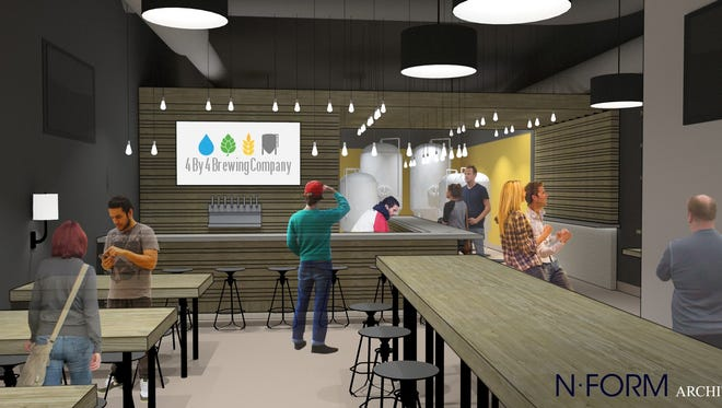 4 By 4 Brewing Company plans to open in southeast Springfield's Galloway area in fall 2017. The company provided an interior rendering made by nForm  Architecture