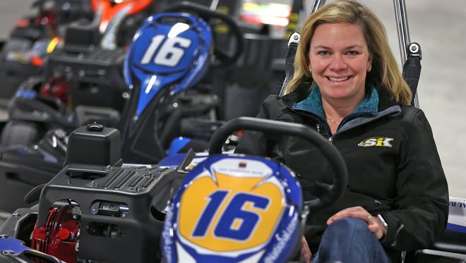 If IndyCar driver Sarah Fisher shows up at Speedway Indoor Karting, ask her for driving tips. The road course includes challenges she faced at real speedways while she was an IndyCar driver.