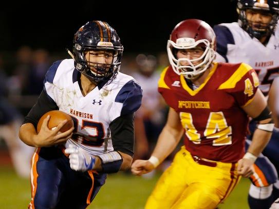 Harrison quarterback Jonathon LaGuire with a second